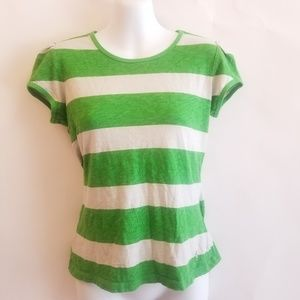 🌸3/$15 Juicy Couture Green/White Stripe Shirt
